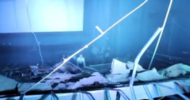 Ayala Cinema ceiling collapsed