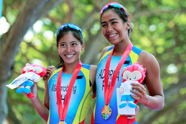 Triathlete Claire Adorna wins first PH gold
