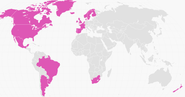 countries with same-sex marriage legalized map
