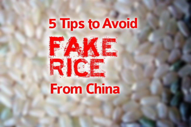 five tips to avoid fake rice from china