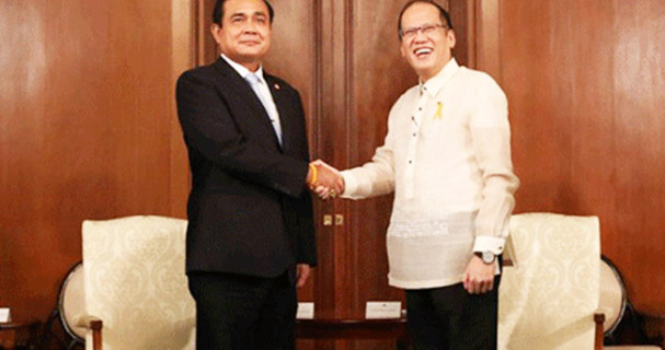 Prayuth Chan-o-cha and PNoy Aquino 2