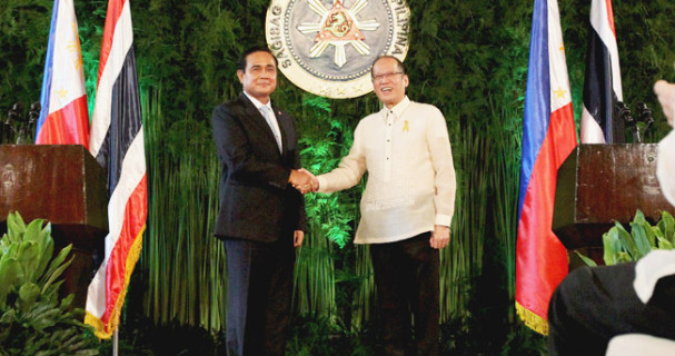 Thai PM Prayuth Chan-o-cha and PNoy Aquino