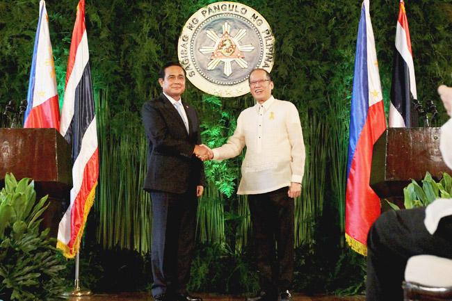 Thai PM Prayuth Chan-o-cha and PNoy Aquino