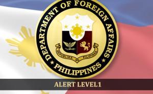 alert level 1 philippine embassy