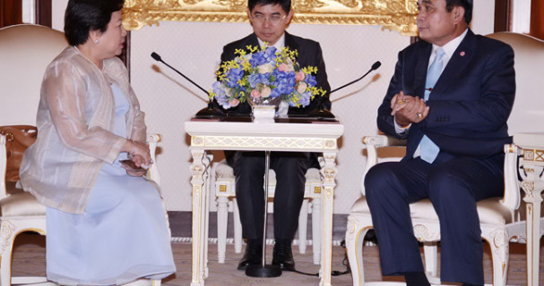 PHL Ambassador Bernardo-Aragon with Thailand PM Prayut