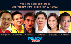 Philippine Election 2016 candidates for vice president