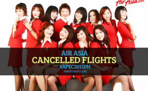 AirAsia cancelled flights APEC2015