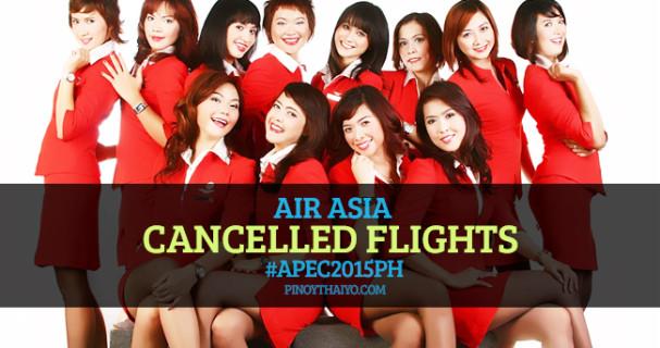 AirAsia cancelled flights APEC2015