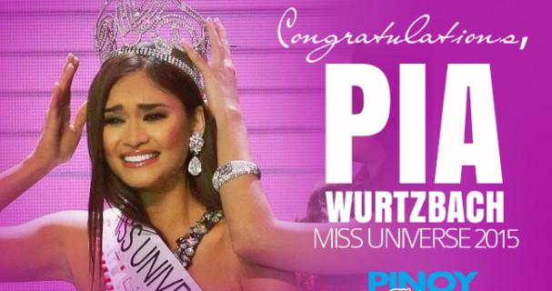 Miss Universe 2015 Pia Wurtzbach - Pinoy Thaiyo