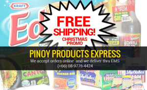 Pinoy Products Express free shipping christmas - Pinoy Thaiyo