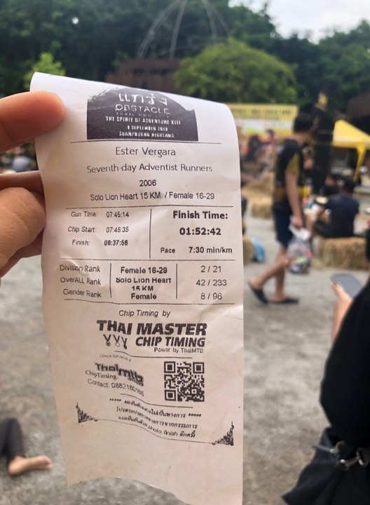 Pinay Wins 3rd Place Overall in the Singha Obstacle Run 2019