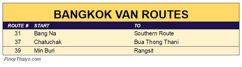 Bangkok Van Routes 3