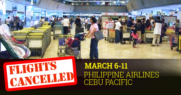 Cancelled Flights PAL Cebu Pacific