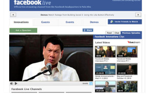Duterte inauguration Facebook livestream