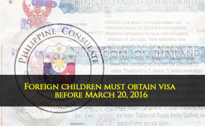 Foreign children visa march 20