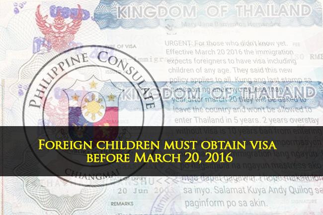 Foreign children visa march 20