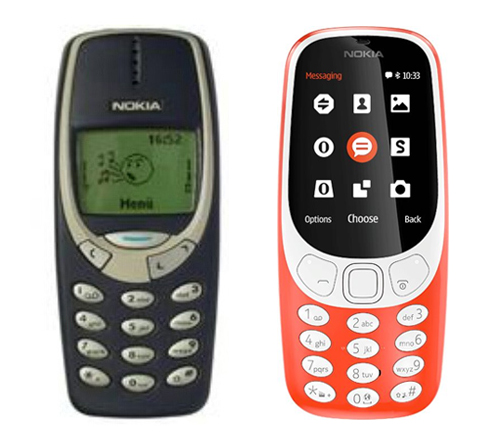 Nokia 3310 side by side