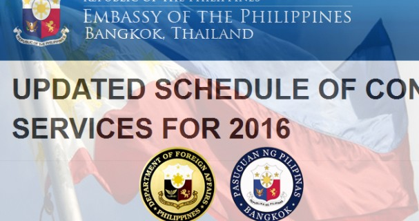 Phl embassy releases updated schedule of consular services for Consular services