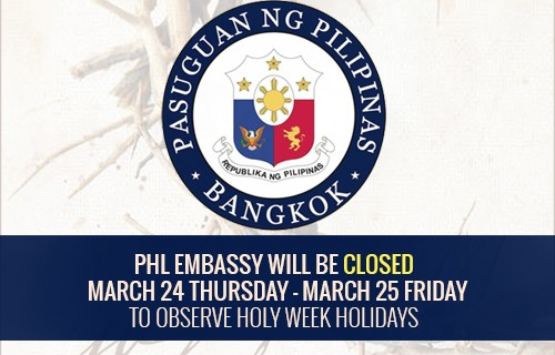 PHL Embassy close march 24 25