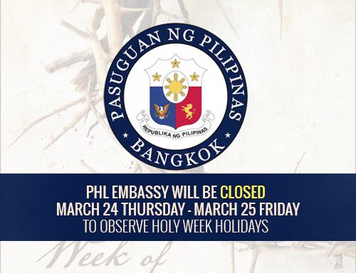 PHL Embassy close march 24 25