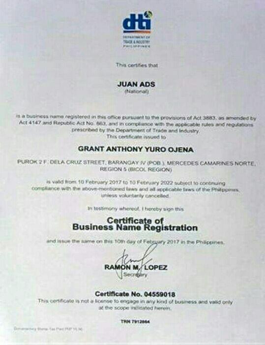 juan ads dti permit Pinoy Thaiyo