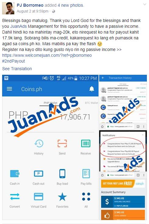 juanads testimonoes pinoy thaiyo