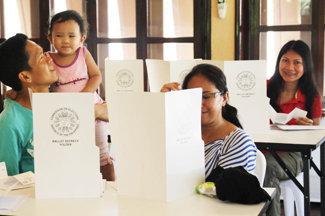 ofws casting their votes