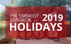 philippine embassy bangkok holidays 2019
