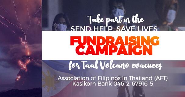 pinoythaiyo fundraising campaign taal evacuees