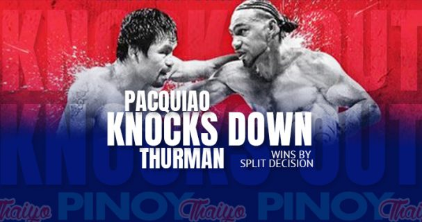 Pacquiao knocks down Thurman, wins split-decision in Vegas