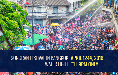 saving water songkran 2016