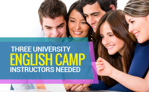 three english camp instructors needed