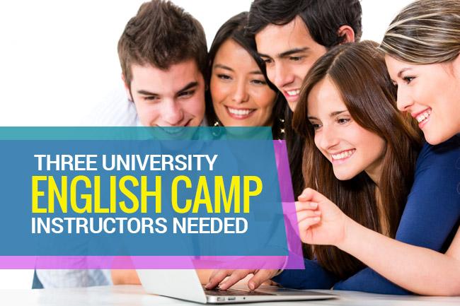three english camp instructors needed